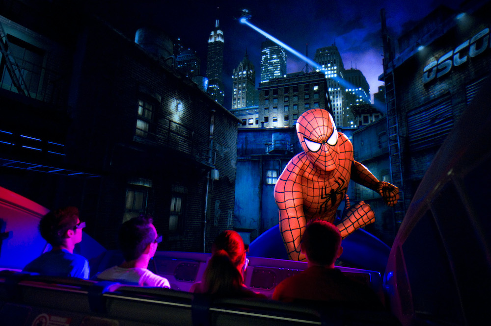 influential dark rides The Amazing Adventures of Spider-Man