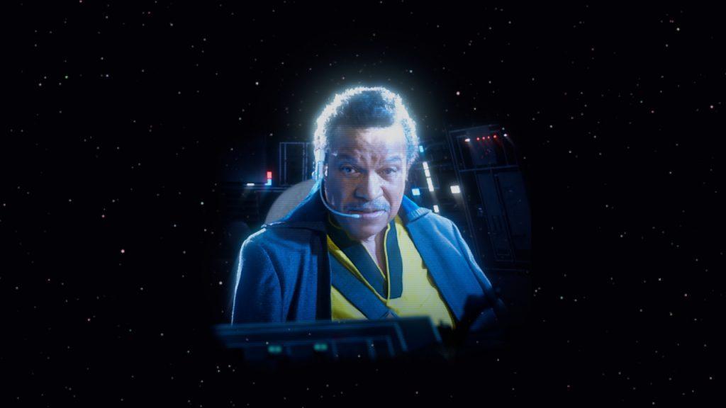 Lando transmission on Star Tours