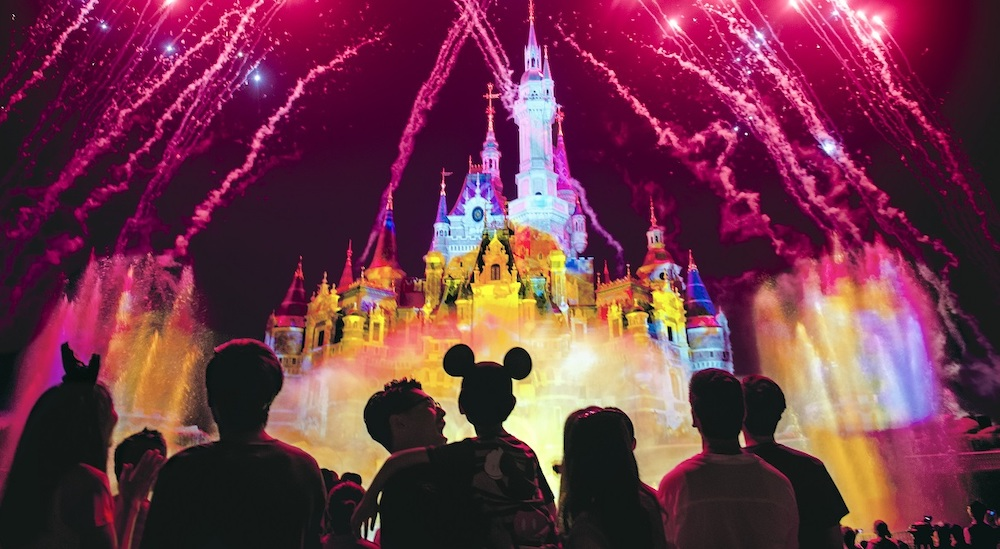 Fireworks at the castle at Shanghai Disneyland, which has an honourable mention on our list of the world's top theme parks of the decade