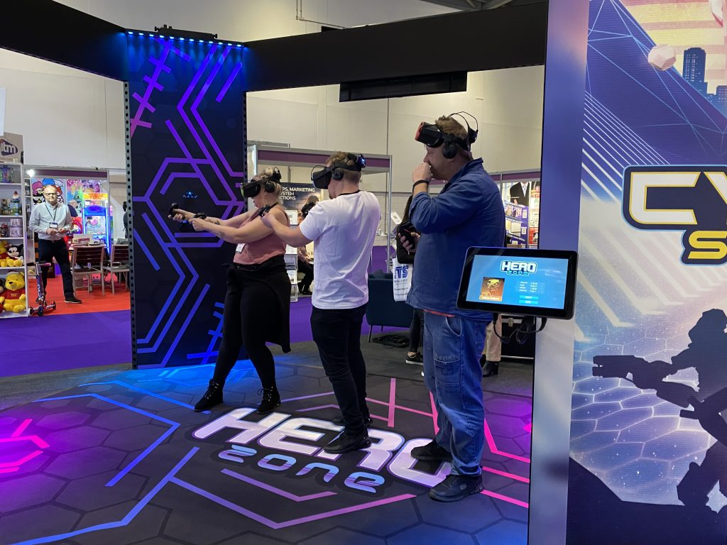 Hero Zone VR game VR experiences at EAG Expo 2020