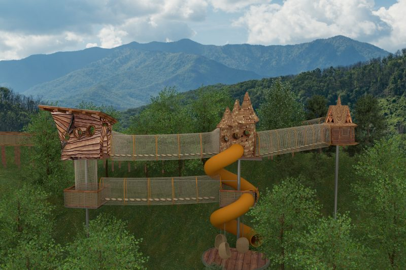 anakeesta theme park tree house adventure course