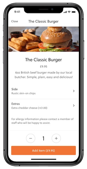 mobile apps for ordering food theme park apps