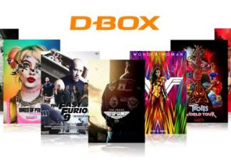 Selection of films using D-BOX motion technology
