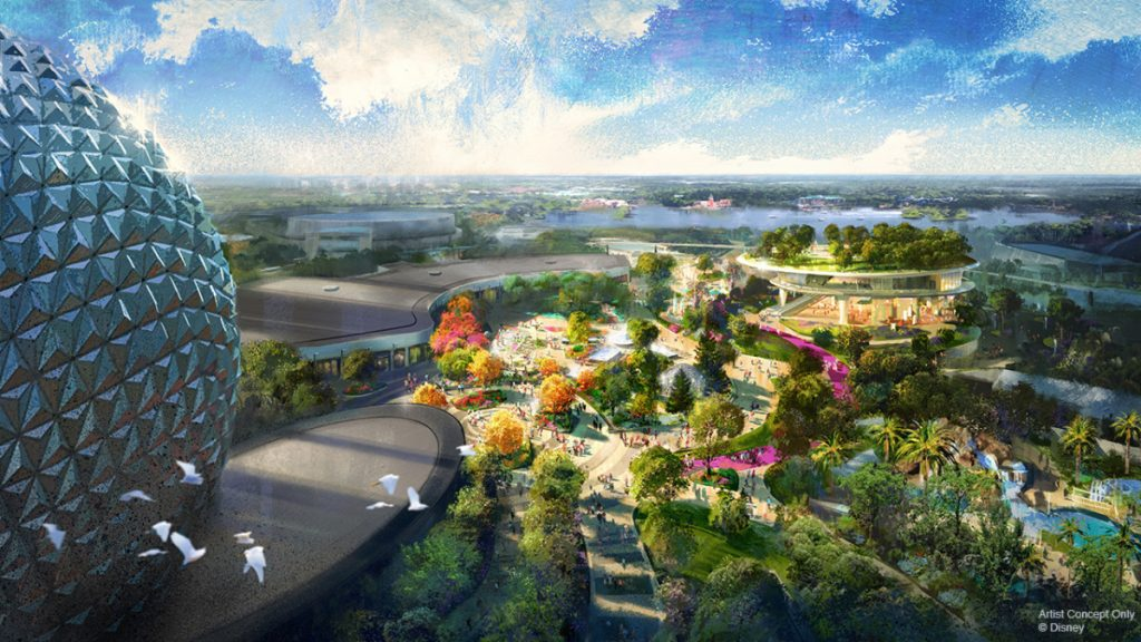 New epcot festival pavilion viewed from dreamers point