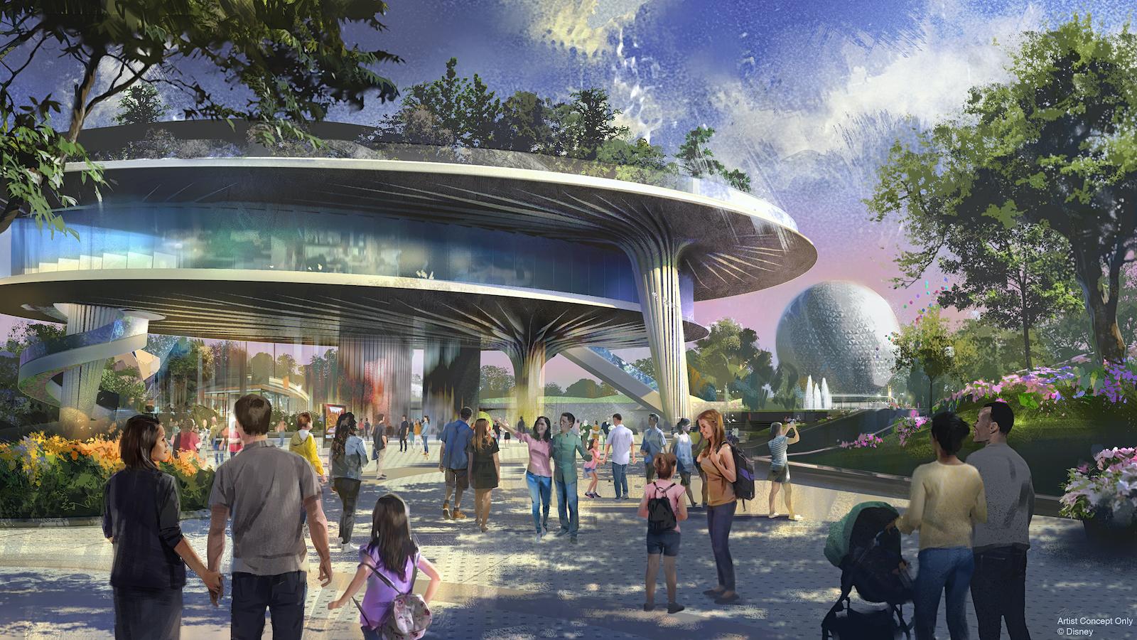 Concept art for new Epcot festival pavilion