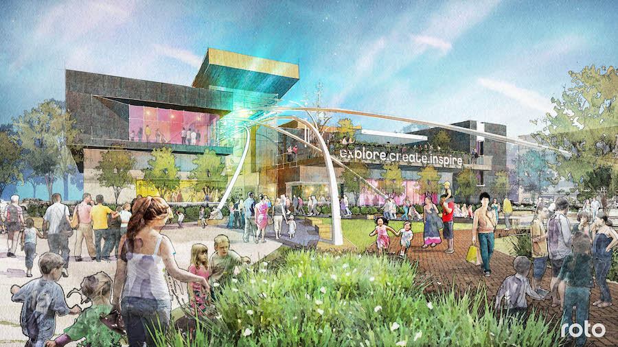 renderings for new science centre in Virginia by Roto