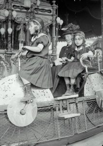 Carousel in Luna Park, Paris, 1910