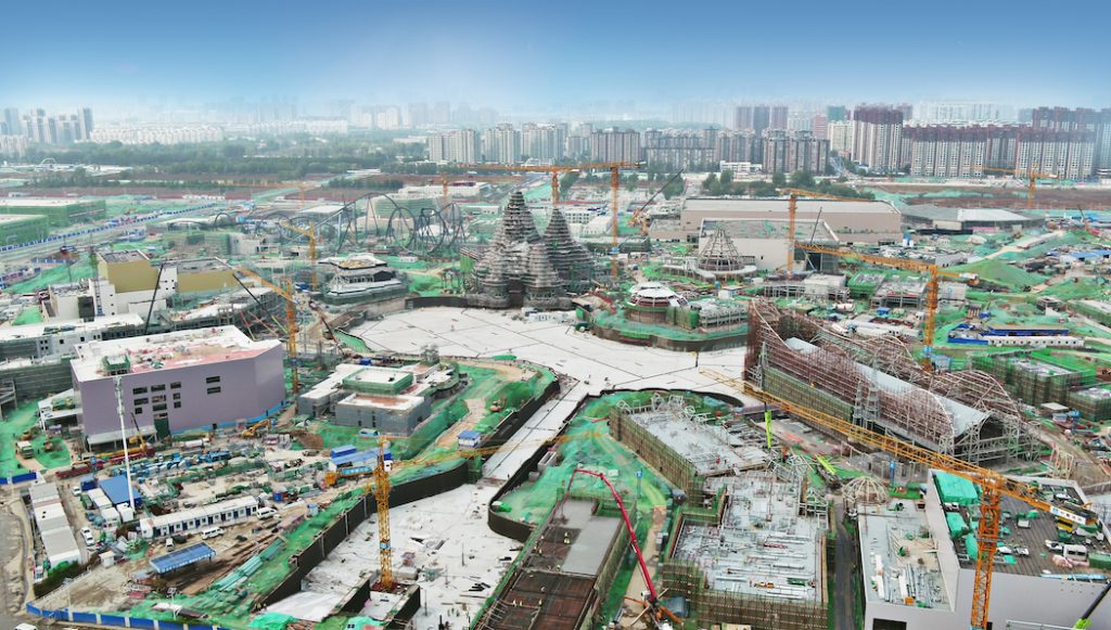 universal beijing resort construction