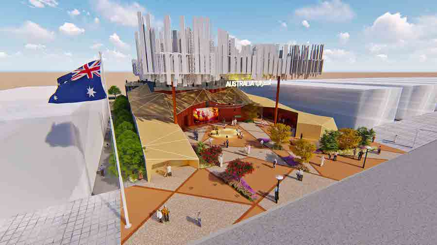 Concept art for Australia, one of the top expo 2020 pavilions