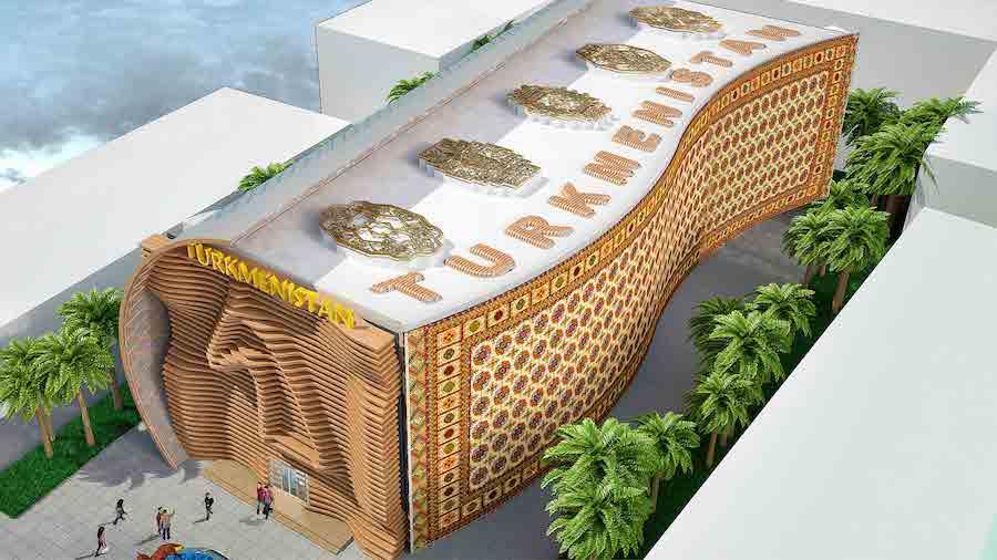 pavilion from Turkmenistan for Expo 2020 Dubai