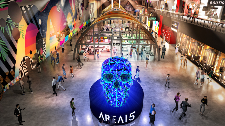 AREA15 retail and immersive entertainment venue in Las Vegas - entryway