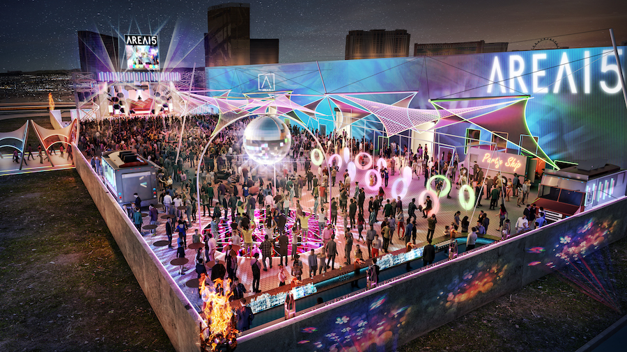 AREA15 retail and immersive entertainment venue in Las Vegas - outdoor event space