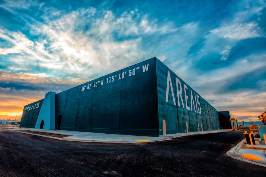 AREA15 immersive entertainment and retail venue is Las Vegas, from the outside