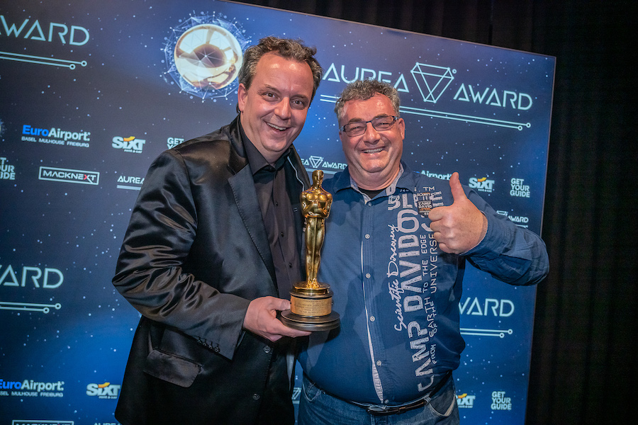 Michael Mack with Gerd Nefzer (Oscar winner in 2018) at the AUREA Awards