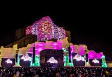 Qiddiya launches giant mountainside projection